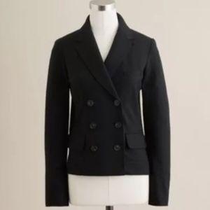 J. CREW Black Wool Thandie Double Breasted Blazer